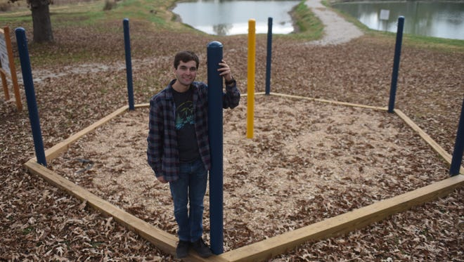 Jacob Davis said he was inspired to bring a hammock garden to Mountain Home after seeing one last year on the campus of the University of Central Arkansas in Conway.