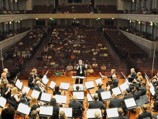 Nashville Symphony's Free Day of Music provides an hourlong symphony concert in the posh 1,800-seat Laura Turner Concert Hall at the Schermerhorn Symphony Center.