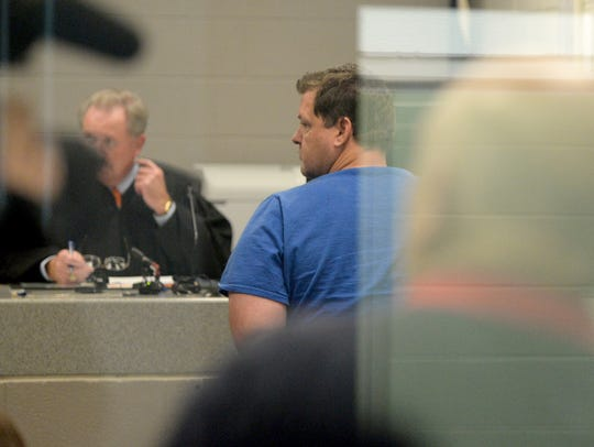 A court hearing at the Spartanburg County Detention