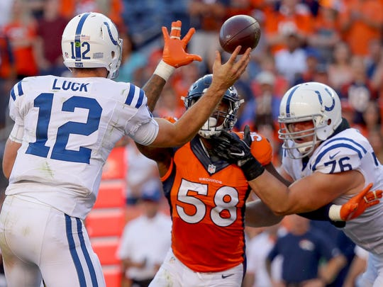 Von Miller proved a headache for the Colts' defense all afternoon in Week 2.