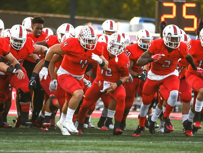 Colerain takes the field against Mason Sept. 29, 2017