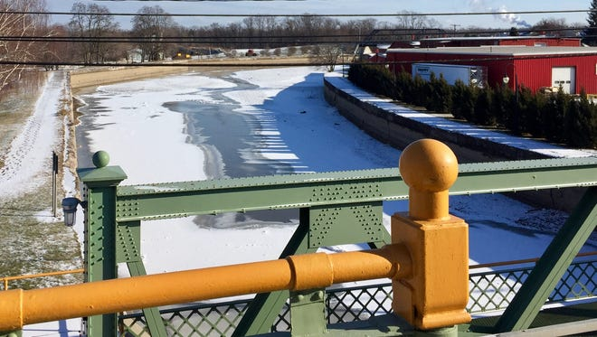 The Erie Canal in Medina, Orleans County, empty in winter will be opened again May 19 for boaters.