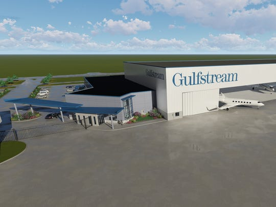 Gulfstream Aerospace Corp. will build a new $40 million service center at Appleton International Airport in Greenville.