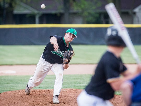 Yorktown defeated Cowan during the Delaware County Baseball Tournament Saturday, May 12, 2018.