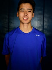 Lukas Cziesla won in straight sets at No. 1 singles