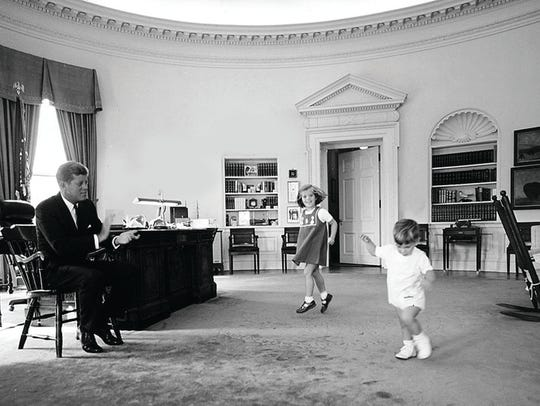 President John F. Kennedy's children wear Florence