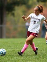 Morristown's Caitlin Rempson passes vs. Chatham NJAC-United