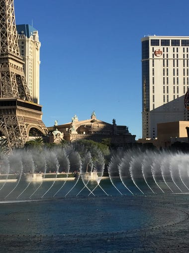 Grab a patio seat at Lago by Julian Serrano for this stunning view of the dancing Bellagio fountains.