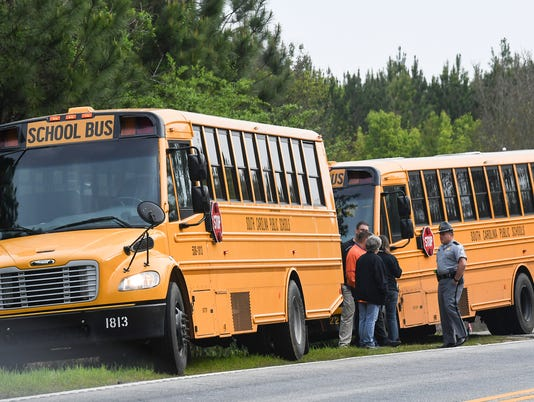 Pendleton school bus wreck