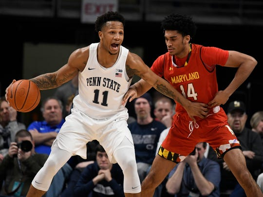 Penn State forward Lamar Stevens should be a first-team talent in the Big Ten this year.