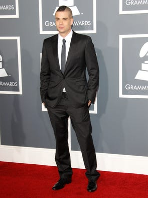 Mark Salling arrives at the 2011 Grammy Awards.
