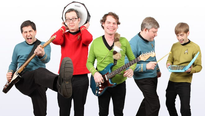 Five Year Mission (from left, Chris Spurgin, Andy Fark, Patrick O'Connor, Mike Rittenhouse and Noah Butler) will perform this week at the Star Trek Las Vegas Convention.