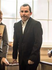 The Rev. Marcin Nurek in the courtroom of Superior