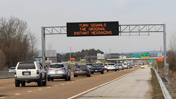 A TDOT highway message sign.