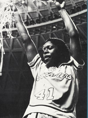 Forward Pam Kelly helped the Lady Techsters win the 1982 NCAA national championship. Kelly averaged 20 points that year to secure the Wade Trophy, which is awarded to the top player in the country.
