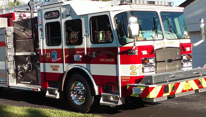 Martin County Fire Rescue fire truck
