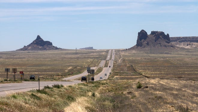 This stretch of U.S. Highway 491 south of Shiprock is included in a part of the roadway that could be designated in honor of Navajo leader Chief Manuelito.
