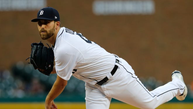 Detroit Tigers pitcher Matthew Boyd throws against the Chicago White Sox in the first inning.
