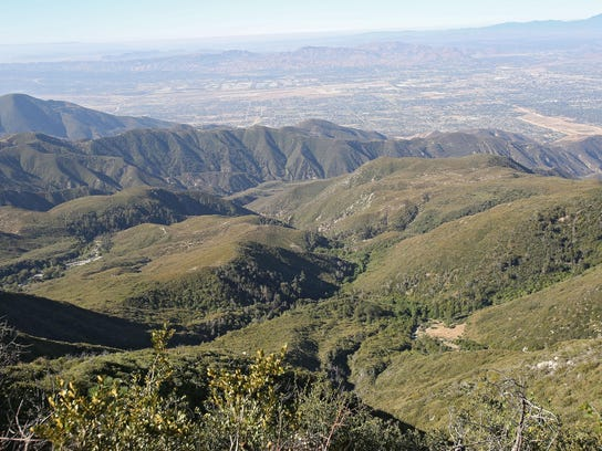 The San Bernadino National Forest spreads out in ridges