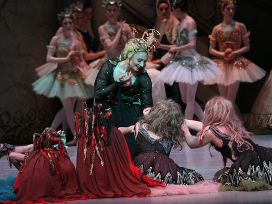 """Kateryna Sellers and Louisville Ballet company dancers and cast of """"The Sleeping Beauty."""""""