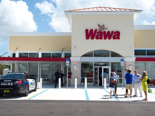 The first, and so far only, Wawa in Stuart opened in September at 2401 S. Kanner Highway.