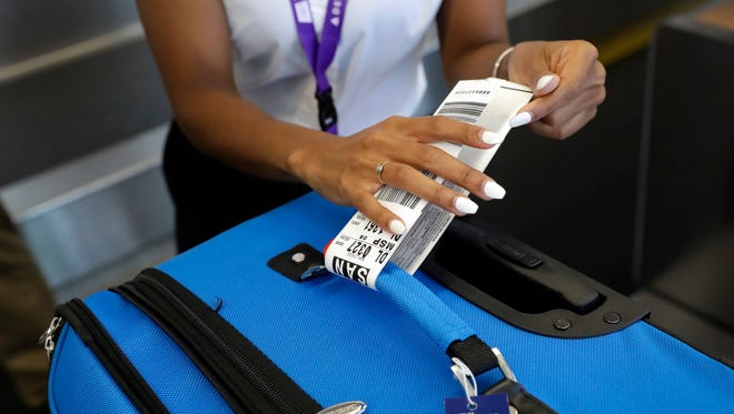 Delta Air Lines now uses RFID-enabled baggage tags that allow passengers to track their bag throughout its journey.