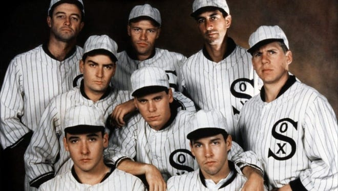"""John Cusack and Charlie Sheen were among the players on the """"Black Sox"""" team depicted in """"Eight Men Out."""""""