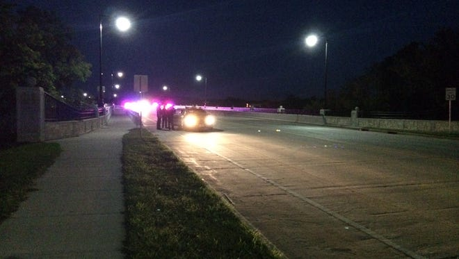 Crisis officers talked down an Appleton man from the College Avenue Bridge Monday evening.