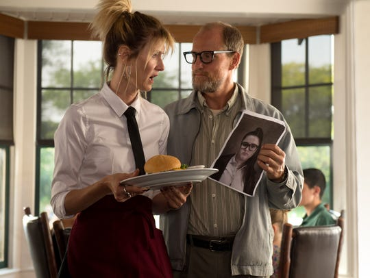 "Laura Dern as ""Pippi"" and Woody Harrelson as ""Wilson"""
