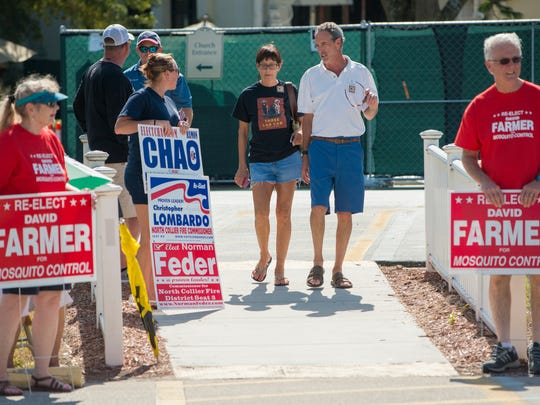 Voters leave after voting at Vanderbilt Presbyterian Church in North Naples on Tuesday afternoon, Nov. 8, 2016.