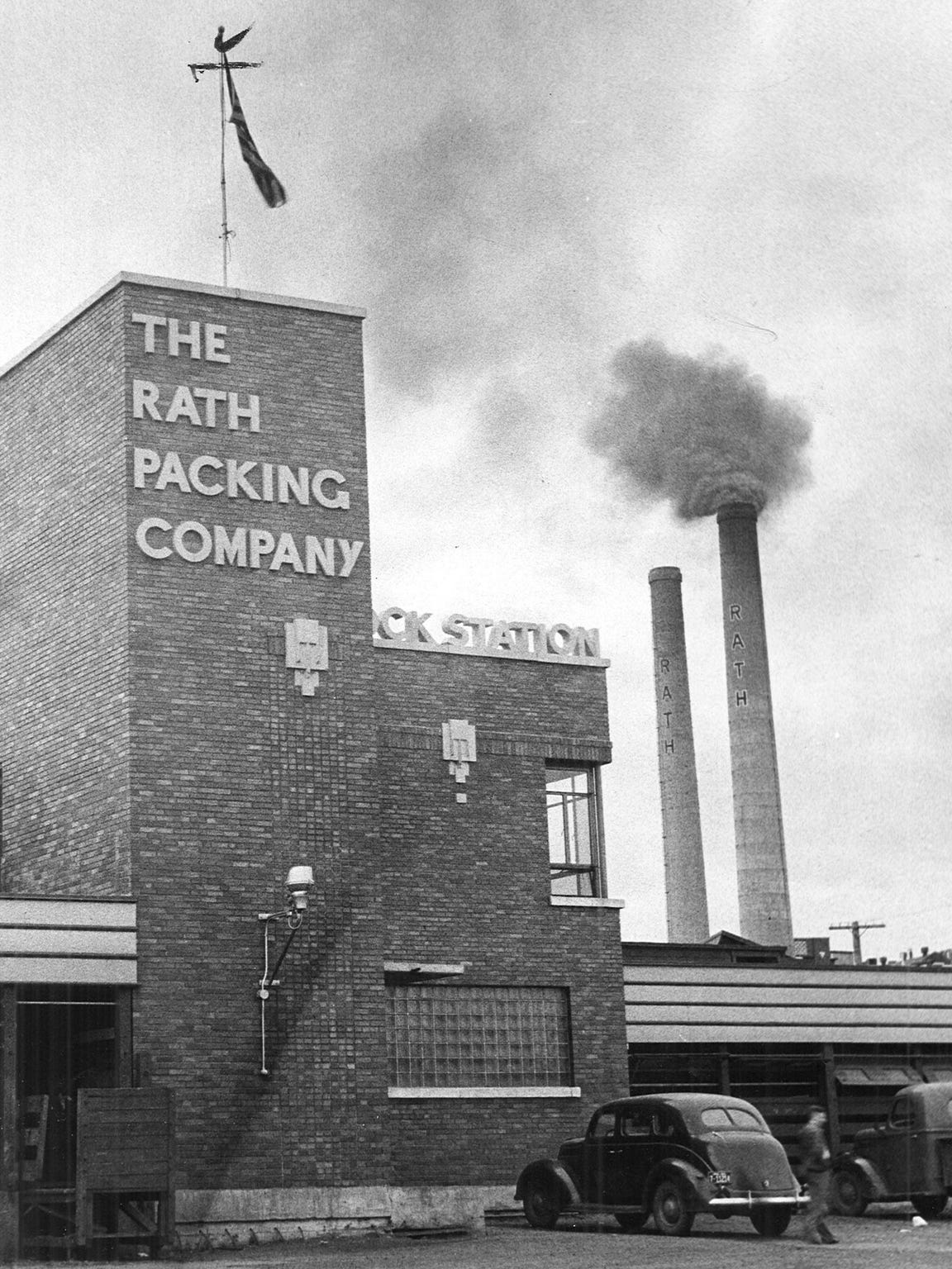 Constructed from 1927 to 1937, the Rath Packing Co.
