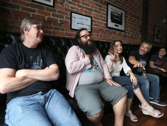 Brian Lynch, left, Rob Schmidt, Ruby Engel, Bob Vita