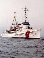 Coast Guard Cutter Tamaroa during a 1987 iceberg research