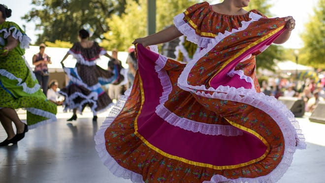 Dalia Martinez performed a Mexican dance routine during the Latin Music Festival in 2014