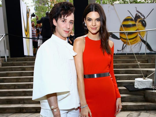 Figure Skater Johnny Weir and Kendall Jenner attend