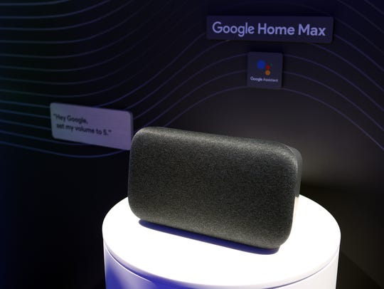 Google Home Max, a new product featured at the Google