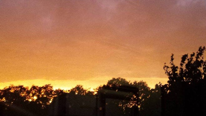 The sky after the storm in Vineland.