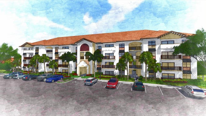 An artist's conception of Milano Lakes, a new luxury apartment community off Collier Boulevard in South Naples.