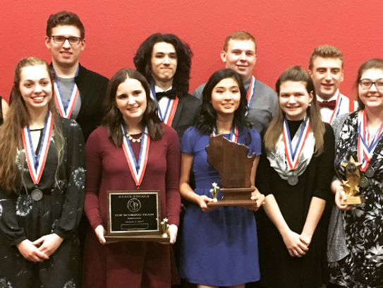 Academic champions from New Berlin West hold the awards