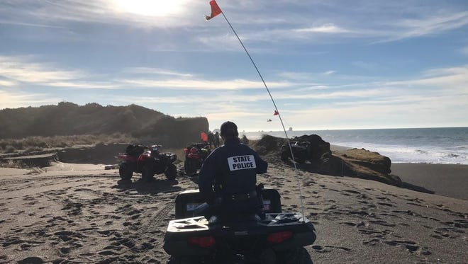 State police searched for Elmira, Oregon, resident Jayson Dean Thomas on Monday. He was apparently pulled into the ocean by a wave on Sunday. Thomas used to live in Corpus Christi.