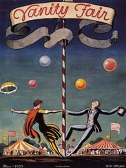 A maypole on a 1923 issue of Vanity Fair, drawn by