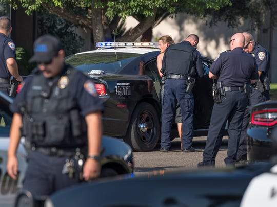 A suspect is taken into custody as Visalia police investigate