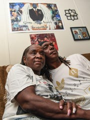 Jackie Earl Cowan, left, and her husband Wallace Cowan of Anderson, said Wednesday that they  hope to learn more how her son Millard Earl Jr. died in July 2017.