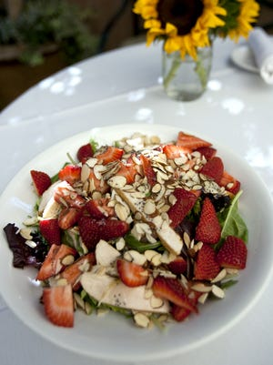 Strawberry Chicken Salad is a specialty dish at Arcadia Farms in Scottsdale.