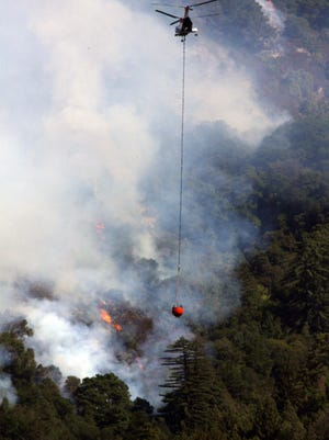 FILE: A fire in Los Padres National Forest in 2008.