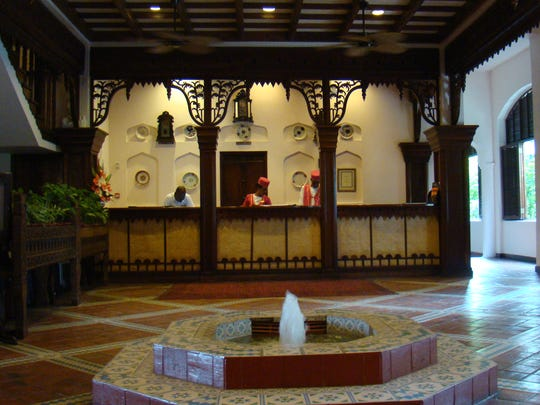 Sandra Givens stayed at the Serena Hotel when she visited Zanzibar.