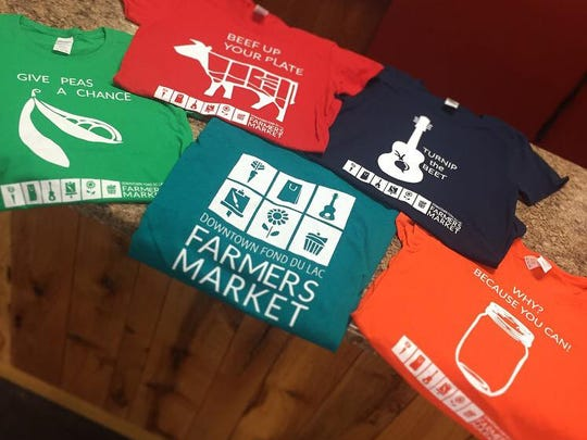 New this year the Downtown Fond du Lac Farmers Market  are T-shirts with funny puns.