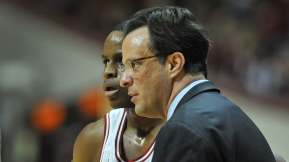 IU coach Tom Crean (foreground) will host 2015 shooting guard Shake Milton of Oklahoma on an official visit this weekend.