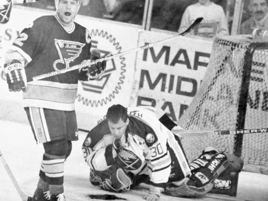Clint Malarchuk with Neck Injury