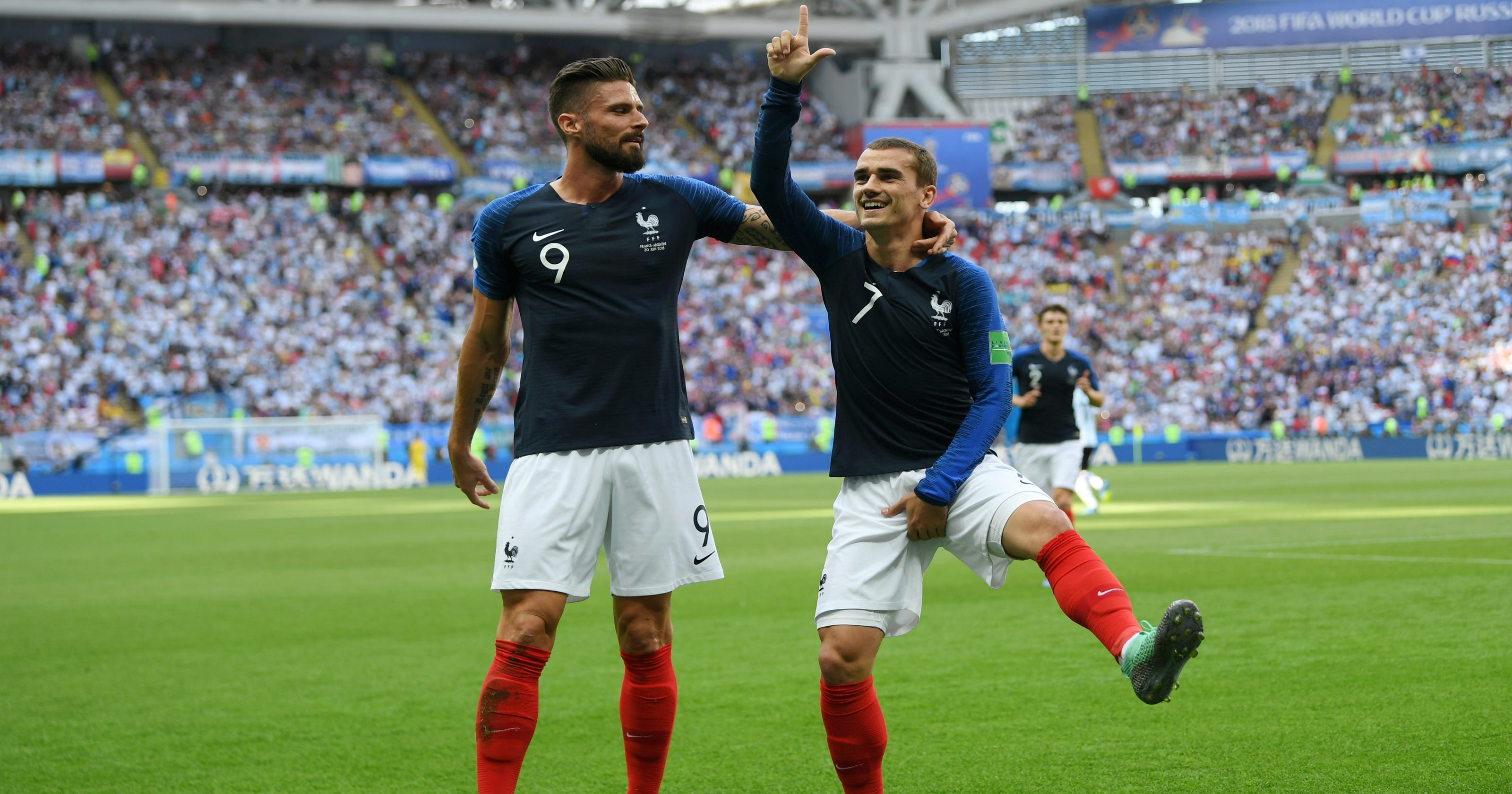 be616bc53a6 World Cup  France s Antoine Griezmann celebrates with Fortnite dance